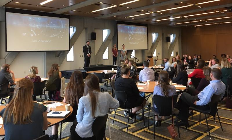 Second Years Aimee Wood, Lorin Farr, and Cameron Brown Present on Data Analytics