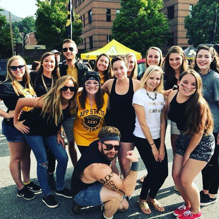 IOHRM students at App State vs. Miami football game