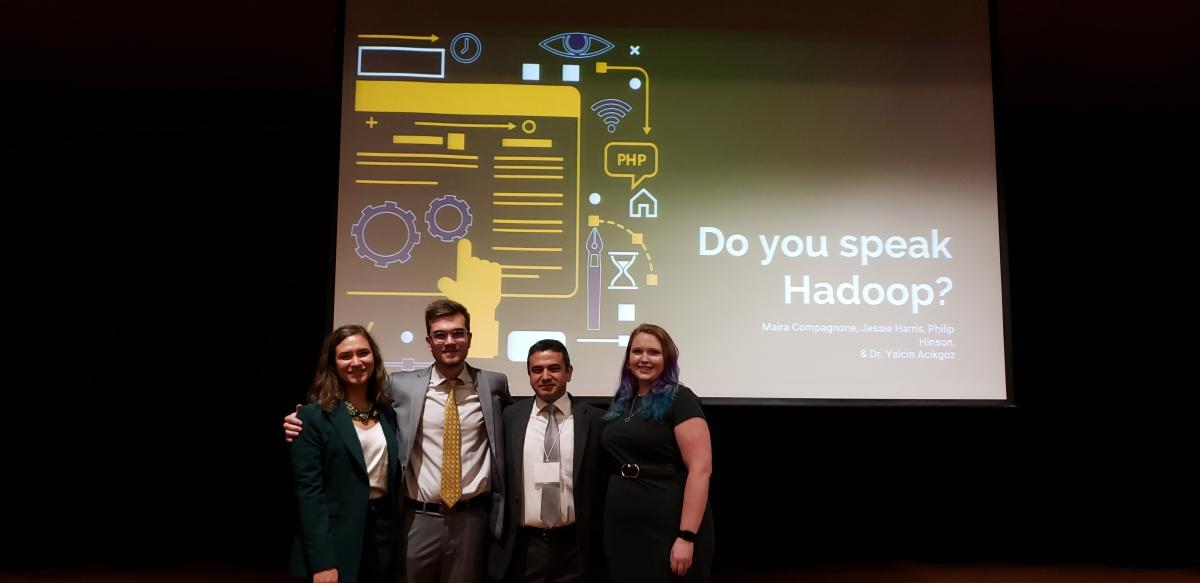 HR Science students, Jessie Harris, Philip Hinson, and Maira Compagnone presenting at RCIO 2019.