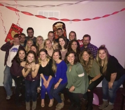 IOHRM students at a Valentine's Day party