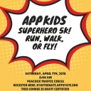 App Kids Superhero 5k flyer