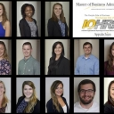 Collage of 13 students in the MBA program