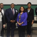 Troi Robinson-Moss with fellow panelists