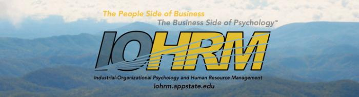 IOHRM logo: The People Side of Business, The Business Side of Psychology