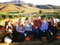 IOHRM students at a pumpkin patch