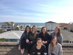 IOHRM students at the beach